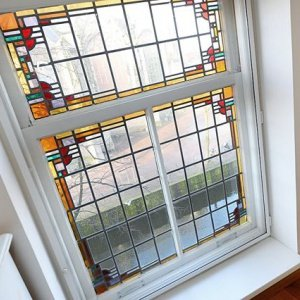 Glas-in-lood. Bijzonder mooi pand in Delft
